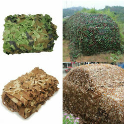 Military Camouflage Netting Hunting Camo Camping Army Net Woodland Desert Leaves $26.99