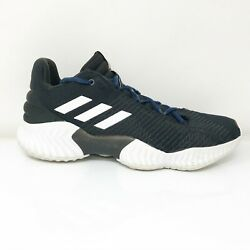 Adidas Mens Pro Bounce 2018 AH2673 Black Basketball Shoes Lace Up Size 10 $44.99