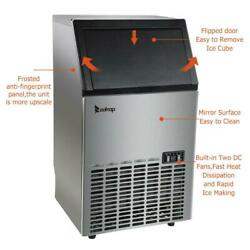 ZOKOP Commercial Ice Maker Freestand Ice Cube Machine Cube Stainless Steel Bar