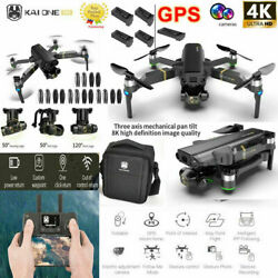 Foldable GPS WIFI FPV Drone Gimbal 8K Camera Quadcopter Brushless Extra Battery $234.95