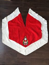 Vintage Tree Skirt With Santa $18.00