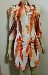 Marella Made In Italy Designer Women#x27;s Shirt Dress Size 42 B1