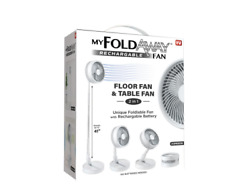 40quot; Floor amp; Table Fan Adjustable Height Rechargeable Foldable Portable Foldaway $48.25