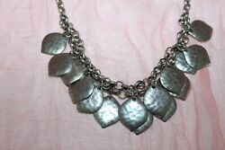Target Silver Tone Necklace w 16 Leaf Charms 15quot; $4.99