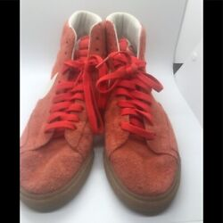 Retro Nike Orange Suede High Tops size 9.5