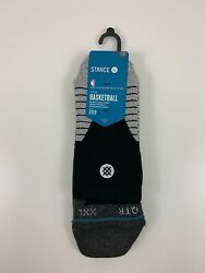 NBA Stance Socks Black Grey Mens Size XXL 17 20 Quarter Height Fit No. 359 NEW $19.99