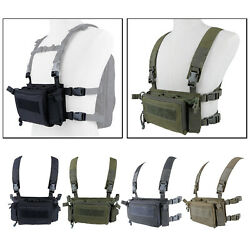 Gaming Modular Tactical Vest Holster Combat Gear Army Plate Carrier Holder $51.91