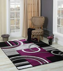 Adiva Rugs Area Rug Modern 6#x27; 6#x27;#x27;x 9#x27; 6#x27;#x27; Soft Hand Carved Contemporary Floor $124.90