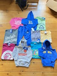 Resell Lot of 11 Womens and Kids New College Clothing Tees and Sweatshirts