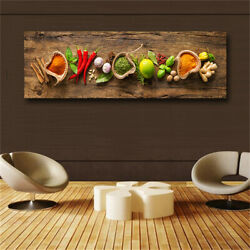Grains Spices Spoon Peppers Kitchen Canvas Painting Cuadros Scandinavian Posters $20.90