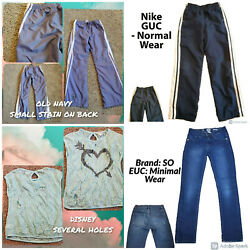 Girls Size 10 12 Clothing Bundle Lot Pants Shirts $4.50