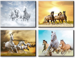 Horse Pictures Painting Canvas Wall Art Decor for Bedroom Rustic Tan Horses of $63.00