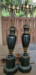 Rare Antique French Lamps Pair Brevet D#x27;invention Hydrauliques 4.2 As Is $598.00