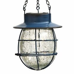 Hanging Solar Country Crackle Lantern Light with Cage Design $19.98
