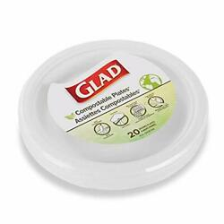 Glad Compostable Paper Plates 9 in Round Plates 20 Count Eco Plates Sugar $9.37
