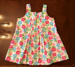 EUC Gymboree Girls Size 12 TENNIS MATCH Pleated Woven Cotton Floral Swing Top $10.00