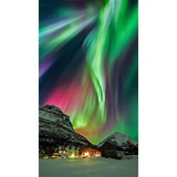 5D Full Drill Diamond Painting Aurora Scenery Embroidery DIY Art Dec Gifts $11.99