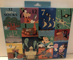 NEW Disney 12 Days of Socks Park Life 2020 Disney World Theme Parks Sealed HTF $24.99