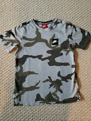 NIKE Camouflage Camo T Shirt Green Olive Youth XL