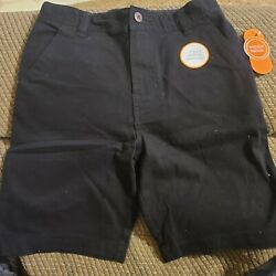 Wonder Nation Uniform Shorts Flat Front Boys 12 NWT Adjustable Waist BLACK $10.99