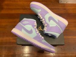 Jordan 1 Mid quot;Purple Aquaquot; Size 9.5 11 554724 500 Free Shipping $150.00