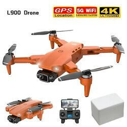 L900 Pro 4k Hd Dual Camera With Gps 5g Wifi Fpv Rc Drone Foldable Quadcopter $137.41