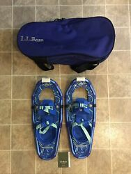 Brand new LL Bean Winter Walker 19 Youth Snowshoes Blue With Bag New $128.99