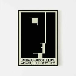 Bauhaus 1923 Exhibition Retro Vintage Wall Art Poster Art No Frame Poster $19.80