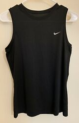 Nike Fit Dry Training Tank Top Black Women Size M