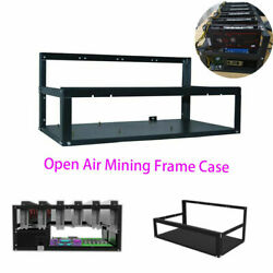 6 GPU Mining Frame Open Air Miner Rig Case Rack for Crypto Coin Currency Mining $43.76