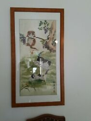 vintage asian framed art $80.00