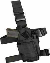 US Right Hand Tactical Drop Leg Thigh Pistol Holster Adjustable with Mag Pouch $12.99