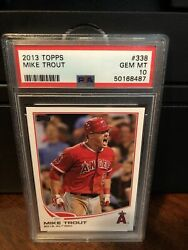 2013 Topps Mike Trout AL Rookie of the Year Baseball Card #338 PSA 10 Gem Mint $64.75