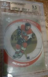 BGS 9.5 GEM MINT MIKE RICHARDS UD ICE PREMIERES Rookie 999 RC with a 10 sub $44.99