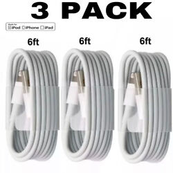 3 PACK 6FT USB Charging Charger Cables Cords For iPhone 11 X XS 8 7 6 5 Plus $6.96