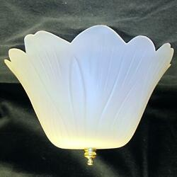 Easy Clip On Satin Tulip Shade for old antique or bare hanging ceiling fixture $20.95
