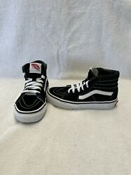 Vans Off The Wall Boys Black white Hightop Shoes size 13 C $18.00