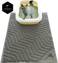 XL Large Cat Litter Box Mat Pad Pet Kitty Clean Easy Cleaning Floor Protecter $21.42