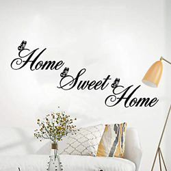 Home Sweet Home Butterfly Vinyl Wall Decorations Wall Art Wall Stickers for Room $13.49
