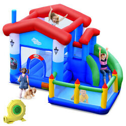 Kids Inflatable Bounce House Jump Bouncer Slide Castle Ball Pit with 735W Blower $429.99
