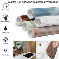 Marble Wall Paper Peel and Stick Wallpaper Self Adhesive PVC Kitchen Countertop $13.99