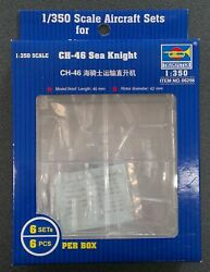 Trumpeter 6256 CH 46 Sea Knight Helicopters for 1 350 Scale Model Ship Kits $13.20
