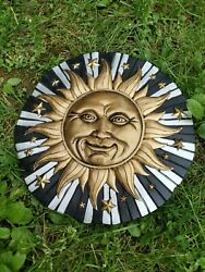 Sun Star Large Silicone Mold Stepping Stone Wall Decor12quot; x 1quot; Cement plaster $32.00