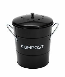 2 in 1 Indoor Kitchen Compost Bin Great for Food Scraps Removable Clean Pla... $40.62