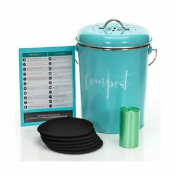 Compost Bin for Kitchen Counter: Stainless Steel Countertop Compost Container... $57.67