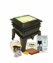 Worm Factory Basic Black 3 Tray Worm Composter Black $156.70