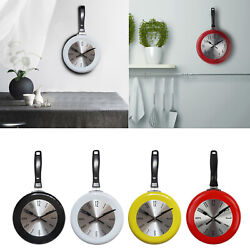 Unique Kitchen Wall Clock 8 Inch Metal Frying Pan Home Kitchen Decoration $20.58