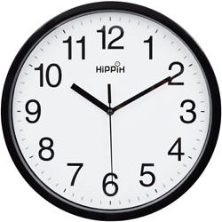 Modern Wall Clock Silent Non ticking Battery Operated 10quot; Round Clock Home Decor $9.21
