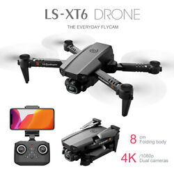 4K Drone HD Camera WIFI FPV Six axis adcopter Altitude Hold Foldable Remoted $38.94