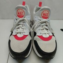 Nike Air Max Prime Mens 13 White Siren Red Black Lace Up Sneakers 876068 102 $34.99